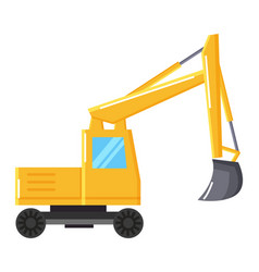excavator or digger mining industrial machinery vector image