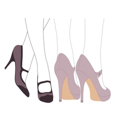 Fancy Feet vector image