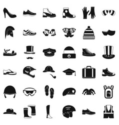 Fashion icons set simple style vector
