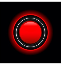Futuristic red button vector