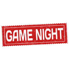 Game night grunge rubber stamp vector