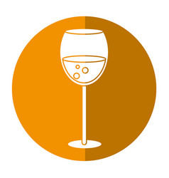 Glass cup beverage drink shadow vector