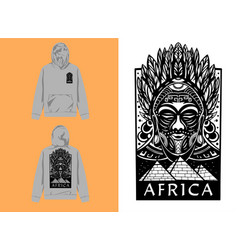 Graphic design african mask vector