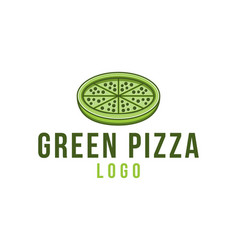 green pizza healthy food fast food logo designs vector image