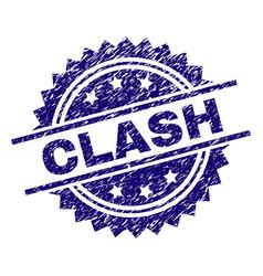 Grunge textured clash stamp seal vector