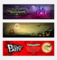 Happy Halloween collections banner design vector image