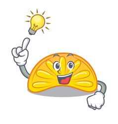 Have an idea orange jelly candy mascot cartoon vector