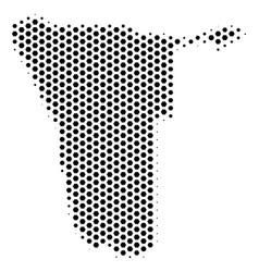 Hex tile namibia map vector