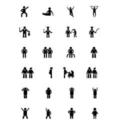 Human Icons 10 vector image