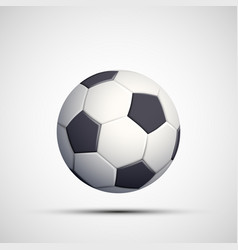 icon leather soccer ball isolated on white vector image