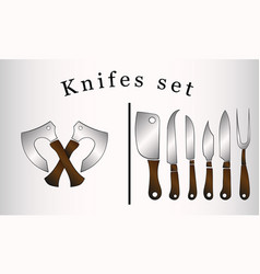 knife tools logo design vector image