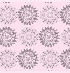 mandala flowers ornamental decoration background vector image