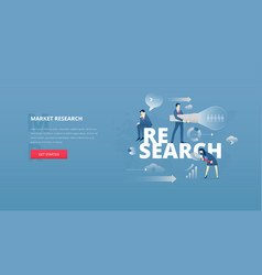 Market research hero banner vector
