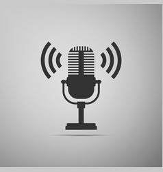 Microphone icon on air radio mic microphone vector