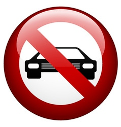 No car mark vector
