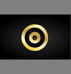 O gold golden letter logo icon design vector