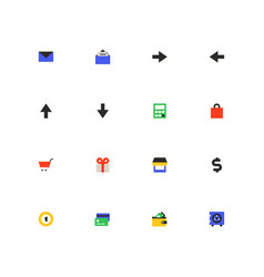 online shopping - colorful material design icons vector image