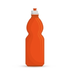 Orange bottle water hydration sport vector