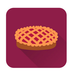 pie icon flat food icon vector image