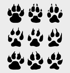 Print paw vector