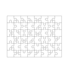 puzzle grid jigsaw detailed grid business vector image