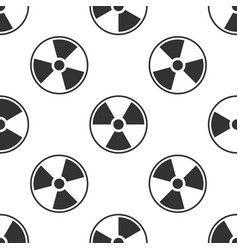 radioactive seamless pattern on white background vector image
