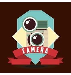 retro camera design vector image