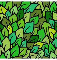 seamless green leaves pattern vector image