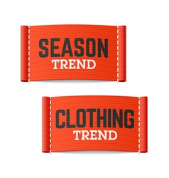 Season and Clothing Trend labels vector