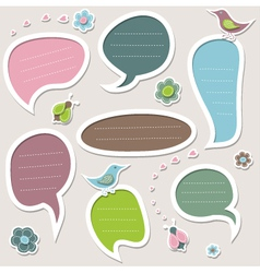 Set of cute text frames vector image