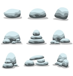 Set of natural stones collection vector