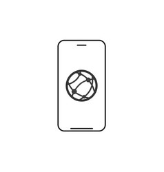 smartphone network connection linear icon thin vector image