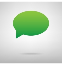 Speech bubble Green icon with shadow vector image