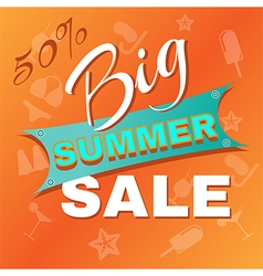 Summer Big Sale Promotion vector image