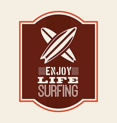 surfing design vector image