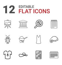 symbol icons vector image