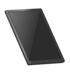 tablet pc mockup realistic style vector image