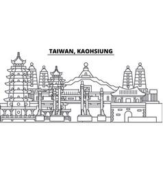 Taiwan kaohsiung line skyline vector