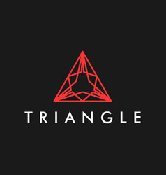 Triangle modern logo simple minimalist vector
