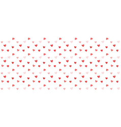 valentines background with heart seamless pattern vector image
