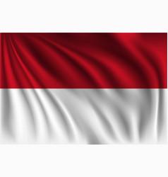 Waving indonesia vector