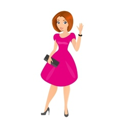 Young pretty woman is wearing little black dress vector