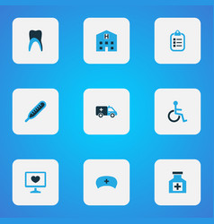 Drug colorful icons set collection of first-aid vector