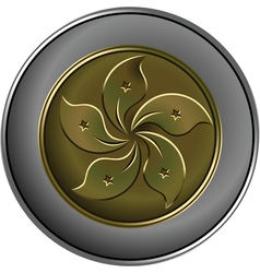 gold and silver chinese coin vector image
