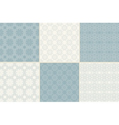 Set of seamless patterns with traditional Arabic vector image vector image