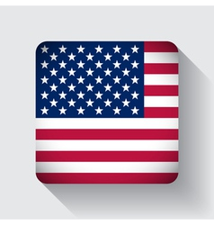 Web button with flag of the USA vector image vector image