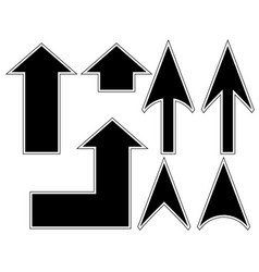 black arrows with circuit vector image