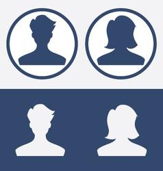 Default profile picture male female vector image vector image
