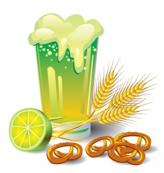 green beer vector image