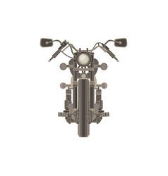 motorcycle flat icon chopper motorbike vintage vector image vector image